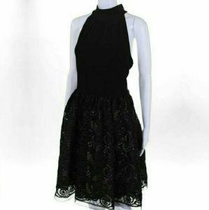 VINCE CAMUTO 14  BLACK SEQUIN LACE DRESS MSRP $148
